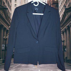 Ann Taylor Factory Black Single Button Suit Jacket